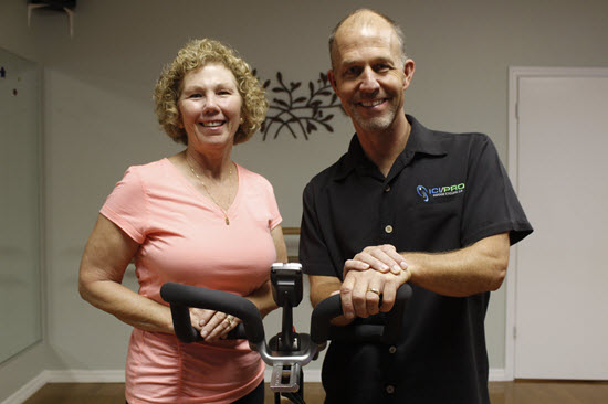 Parkinson's Cycling Master Instructors Kathy Helmuth and John Macgowan